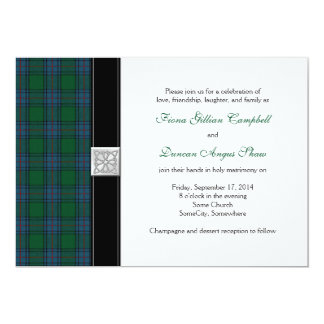 Shaw Tartan Celtic Wedding Invitation
