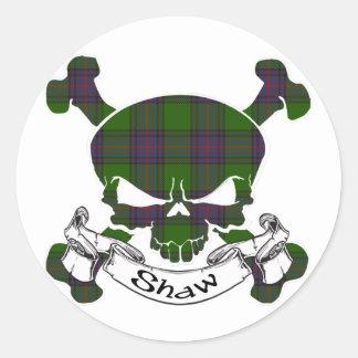Shaw Tartan Skull Sticker