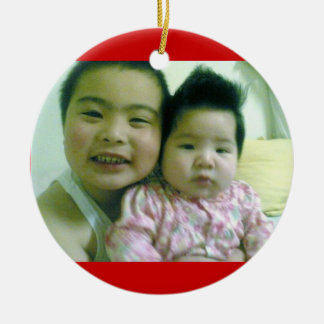 Shawn and Chloe little Christmas Ornament