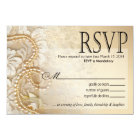 Shayla Pearls and Lace RSVP-1 | eggshell Card