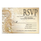 Shayla Pearls and Lace RSVP-2 | eggshell Card