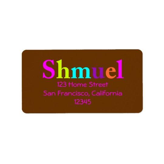 Shayla Return Address Label