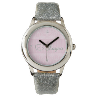 Shayna Silver Glitter Watch