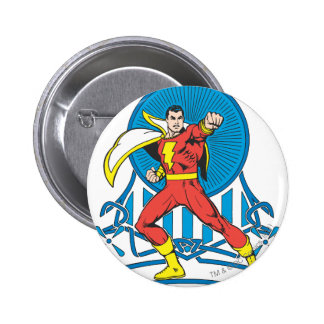 SHAZAM in Fight Stance 6 Cm Round Badge