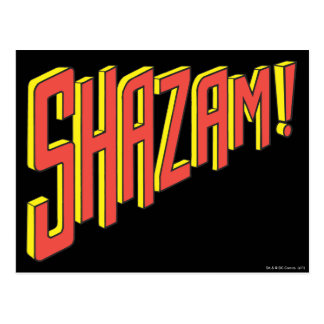 Shazam Logo Red/Yellow Postcard
