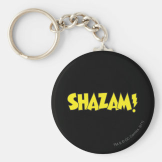Shazam Logo Yellow Key Ring
