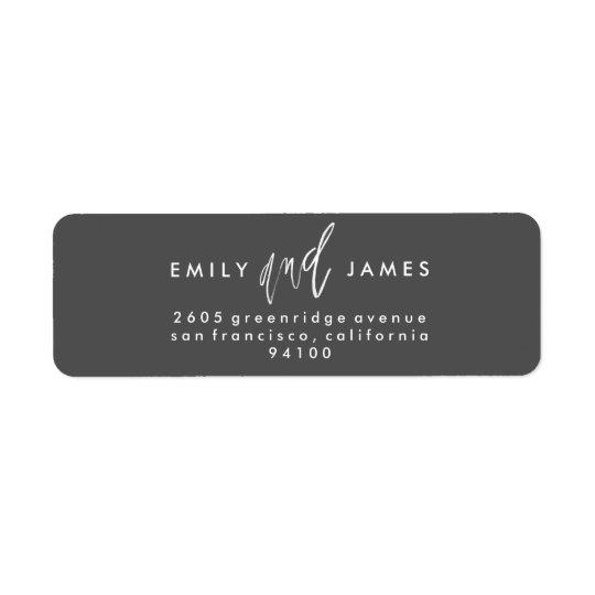 She and Him | Custom Colour Return Address Labels