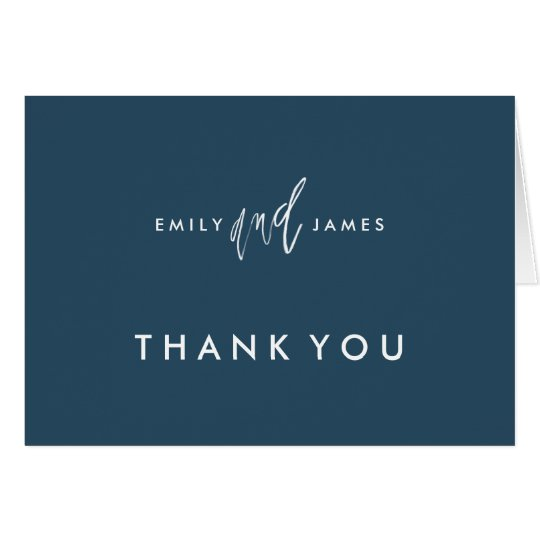 She and Him | Custom Colour Thank You Note Card