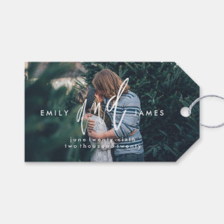 She and Him   Save the Date Thank You Gift Tags