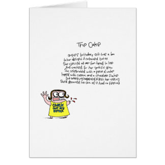 She ate her arm! card