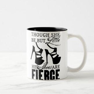She Be But Little/Fierce Shoes Two-Tone Coffee Mug