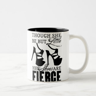 She Be But Little/Fierce Shoes Two-Tone Mug