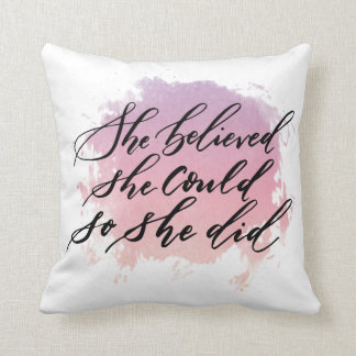 She Believe She Could So She Throw Pillow