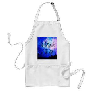 She Believed in Starry Nights Standard Apron