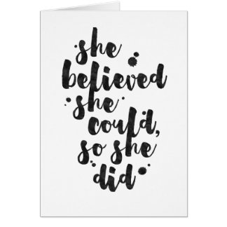 She Believed She Could - Inspirational Card