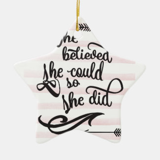 she believed she could so she did christmas ornament