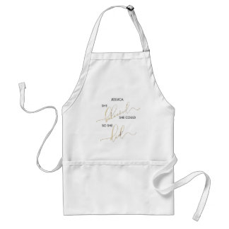 She Believed She Could So She Did Customize Name Standard Apron