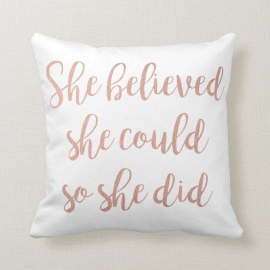 'She Believed She Could So She Did' Throw
