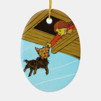 She Caught Toto By The Ear Ceramic Oval Decoration