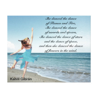 She danced the dance gallery wrapped canvas