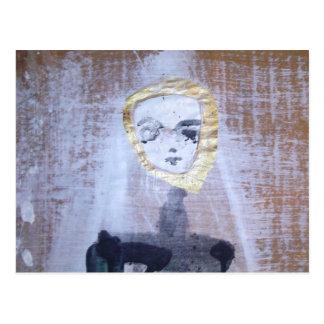she (detail) postcard