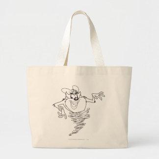 She-Devil Black and White Large Tote Bag