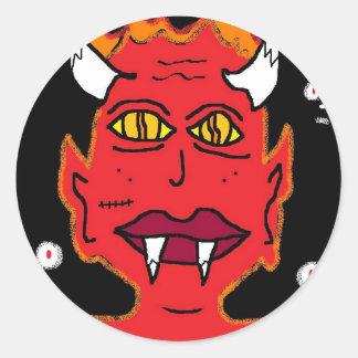 she devil classic round sticker