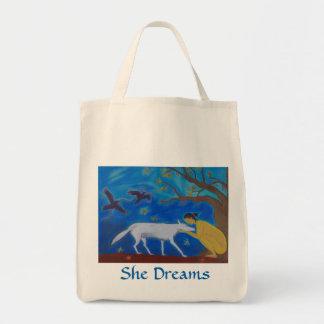 She Dreams tote bag