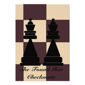 """""""She Found Her Checkmate"""" Two Queens Invitation"""