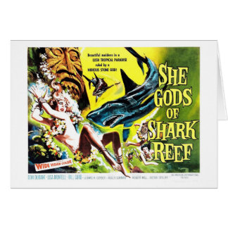 """She Gods of Shark Reef"" Card"