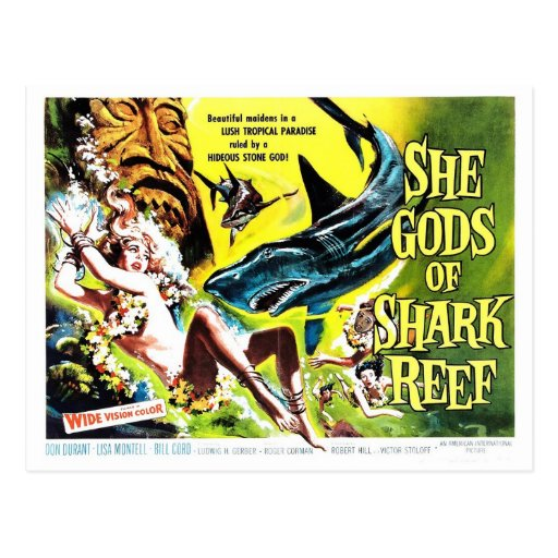 """She Gods of Shark Reef"" Postcard"
