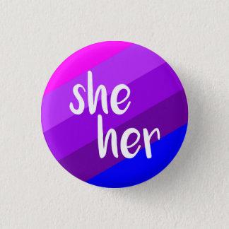 She/Her Pronoun Badge