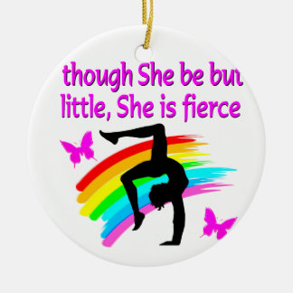 SHE IS A FIERCE GYMNAST CHRISTMAS ORNAMENT