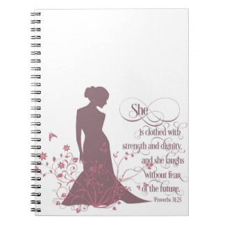 """She Is Clothed in Strength and Dignity"" Journal"