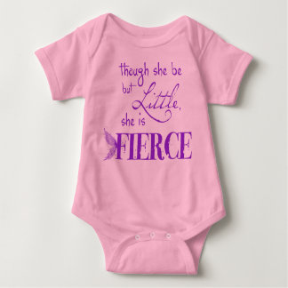 She is fierce baby bodysuit