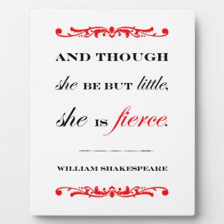 She is Fierce Plaque