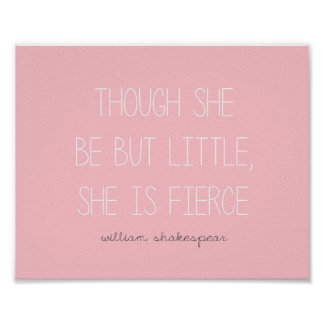 She is Fierce Print