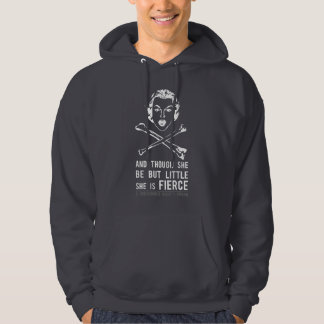 She is Fierce - Punk Hooded Sweatshirts