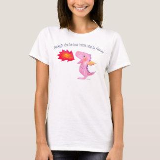 She is fierce T-shirt Dragon Girl Power Graphic T