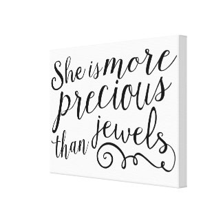 She is More Precious than Jewels Canvas Print