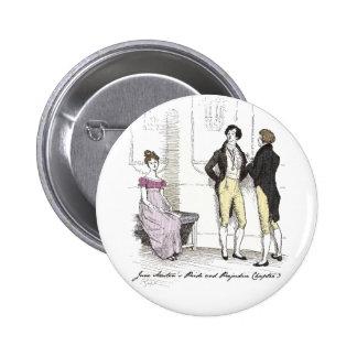 She is tolerable ... Jane Austen P&P CH3 6 Cm Round Badge