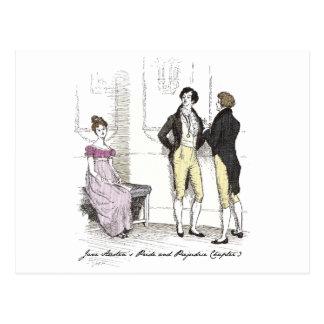 She is tolerable ... Jane Austen P&P CH3 Postcard