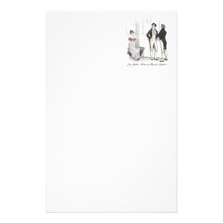 She is tolerable ... Jane Austen P&P CH3 Customized Stationery