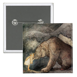 She Kissed the Bear's Nose 15 Cm Square Badge
