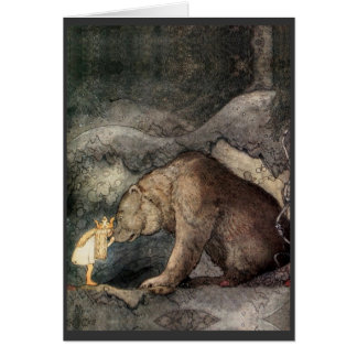 She Kissed the Bear's Nose Greeting Card