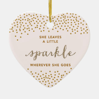 She Leaves a Little Sparkle Christmas Ornament