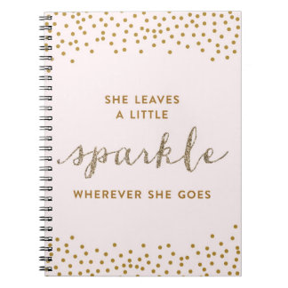 She Leaves a little Sparkle Notebook