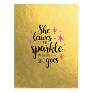 She Leaves A Little Sparkle Postcard