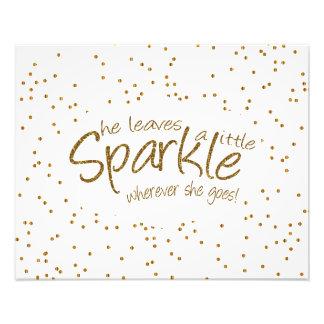 She Leaves a Little Sparkle Wherever She Goes Art Photo