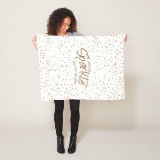 She Leaves a Little Sparkle Wherever She Goes Fleece Blanket